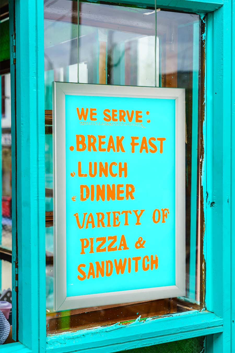 Double Sided LED Light Box with Custom Printed Luxart® Graphic - Hanging  LED Window Sign - Snap Open Frame