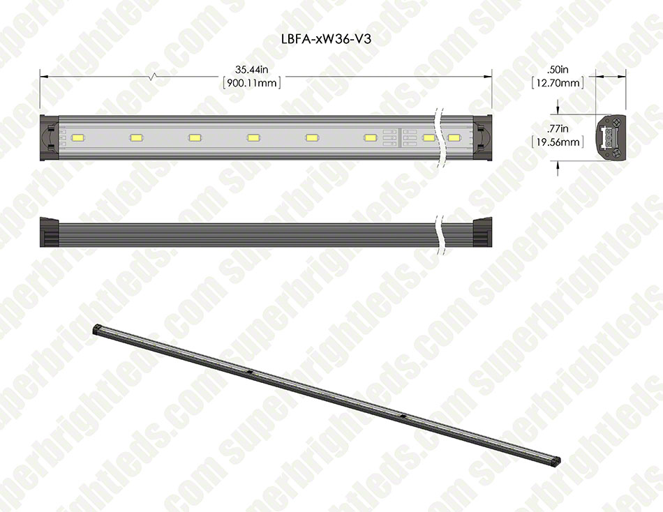 LED Linear Light Bar Fixture