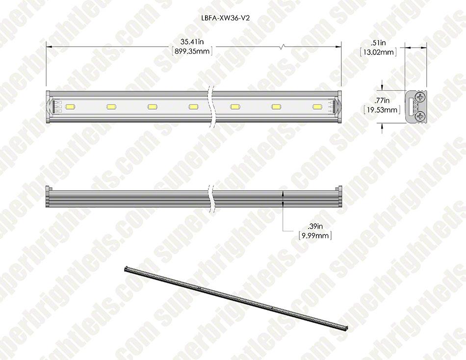 Led Linear Light Bar Fixture 874 Lumens Super Bright Leds