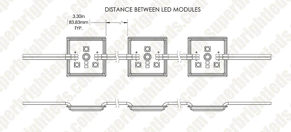 LBM-x3SMD series High Power LED Module String