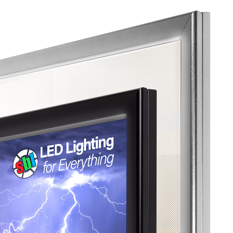 Ultra-Thin LED Light Box w/ Snap-Open Frame and Custom-Printed ...