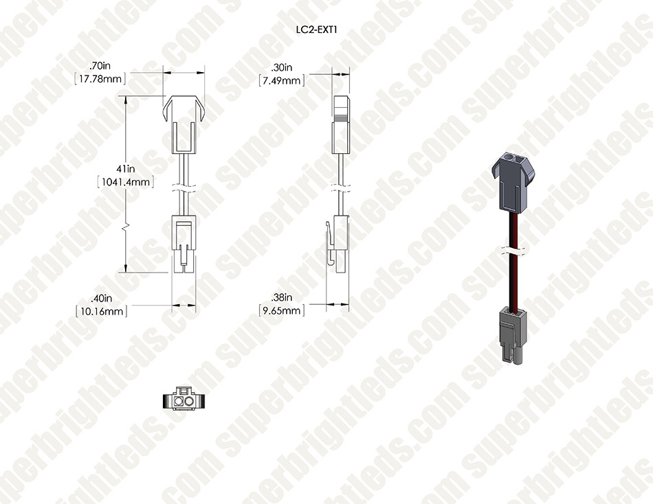 lc2 locking connector power cable extension
