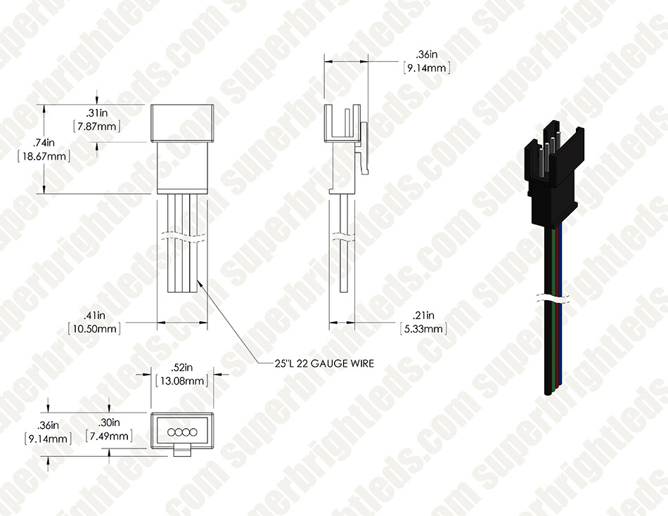 lc4 locking connector pigtail power cable