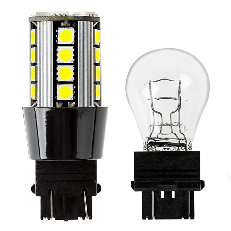led 3157 car bulb incandescent compare 3157 x26 cbt0 3157 can bus led bulb dual function 26 smd led tower wedge  at n-0.co