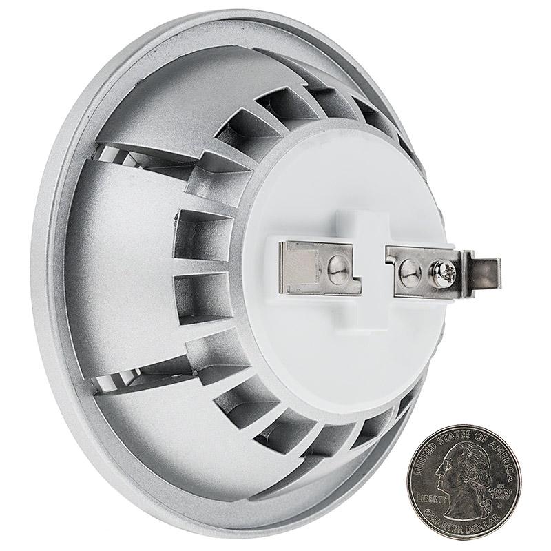 ar111 led bulb 125 watt equivalent bi pin led spotlight bulb 1 200 lumens super bright leds. Black Bedroom Furniture Sets. Home Design Ideas