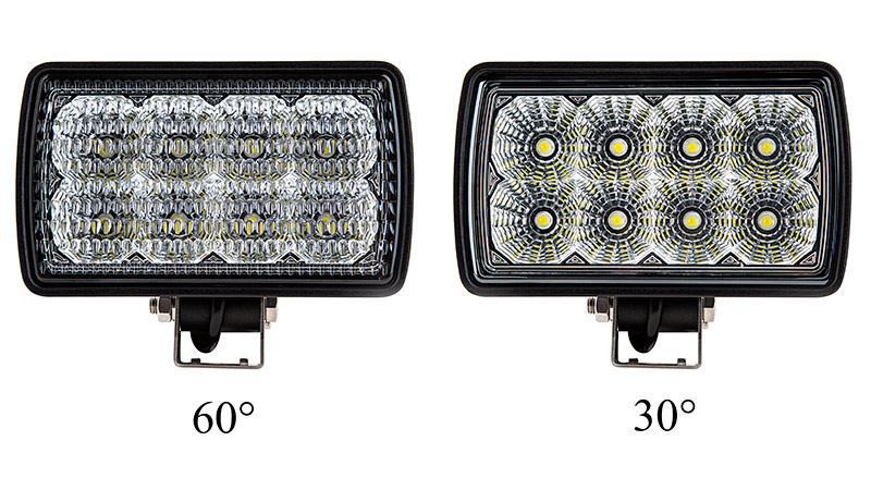 Guide Tractor Lights : Led work light quot rectangular w lumens