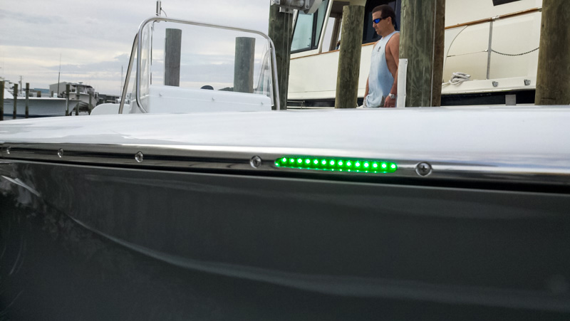 7 Inch 12 White RV LED Tube Light   RV and Boat LED Lights  Customer  Submitted Photo of Light Installed on Boat  Thanks Tim 7 Inch 12 White RV LED Tube Light   RV and Boat LED Lights   60  . Exterior Led Lights For Boats. Home Design Ideas