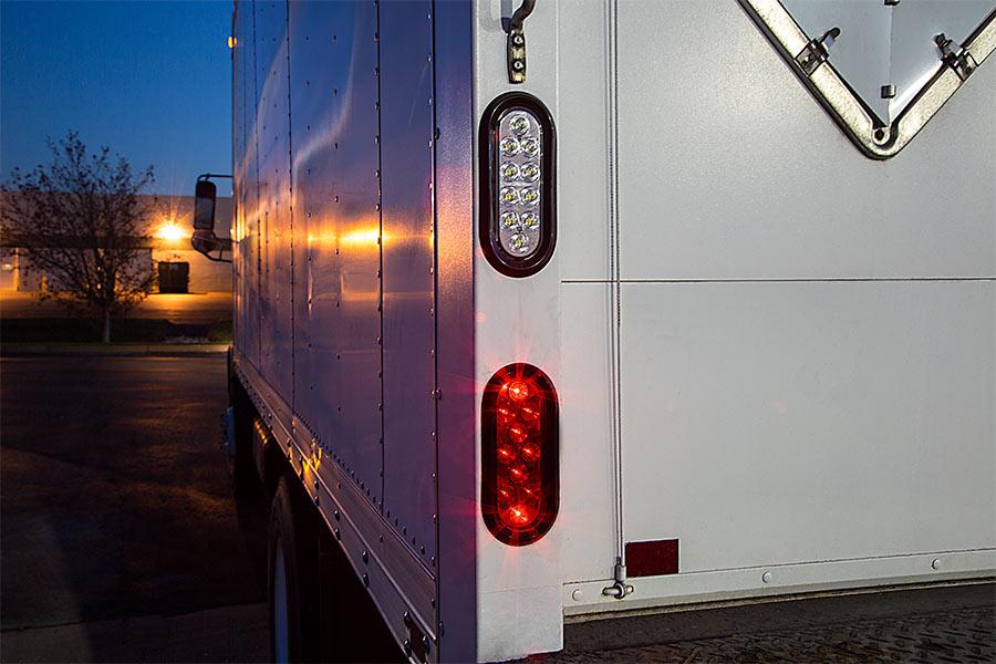 Oval Led Back Up Truck And Trailer Light 6 Led Reverse
