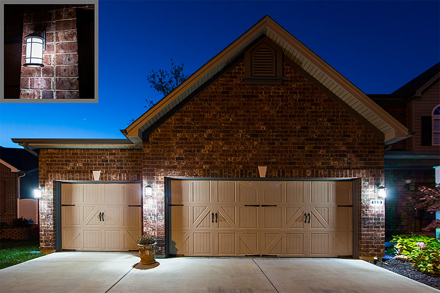 E27 LED Bulb   13W: Cool White Bulbs Installed On Garage Exterior Post  Lights Part 87