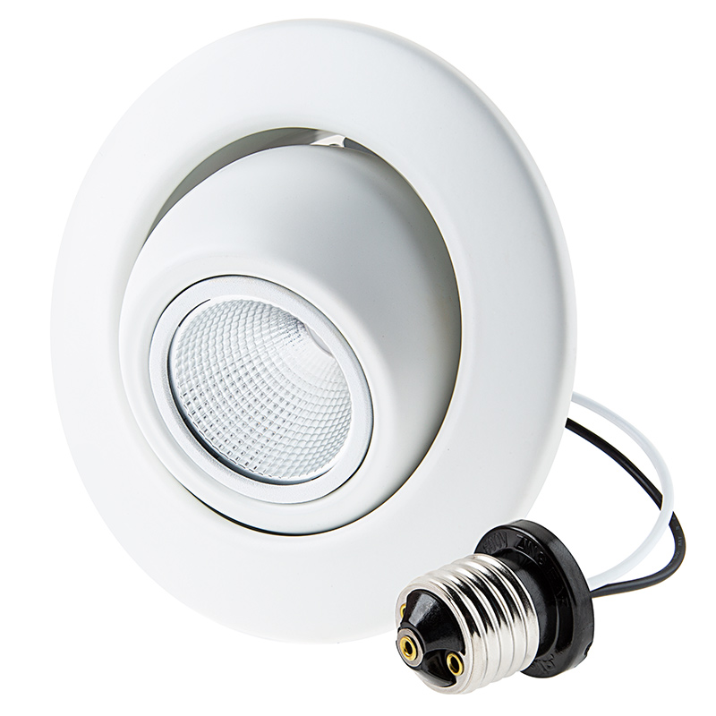 Retrofit Led Can Lights For 4 Fixtures 80 Watt Equivalent Led Eyeball Can Light Conversion