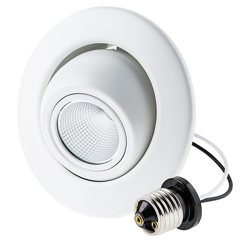 Retrofit led can lights for 4 quot fixtures 80 watt equivalent led eyeball can light conversion