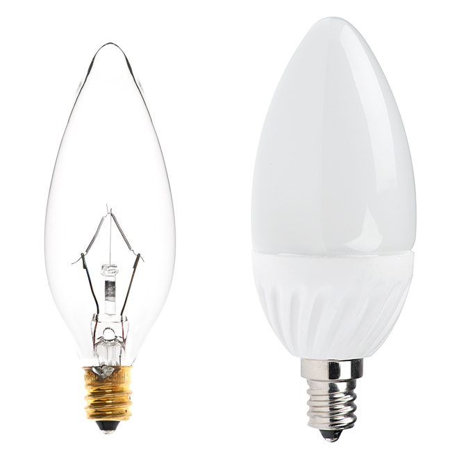 candelabra led bulb blunt tip candle shape comparison to bulb
