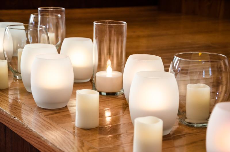 Rgb Led Candle Light And Vase Wremote Super Bright Leds