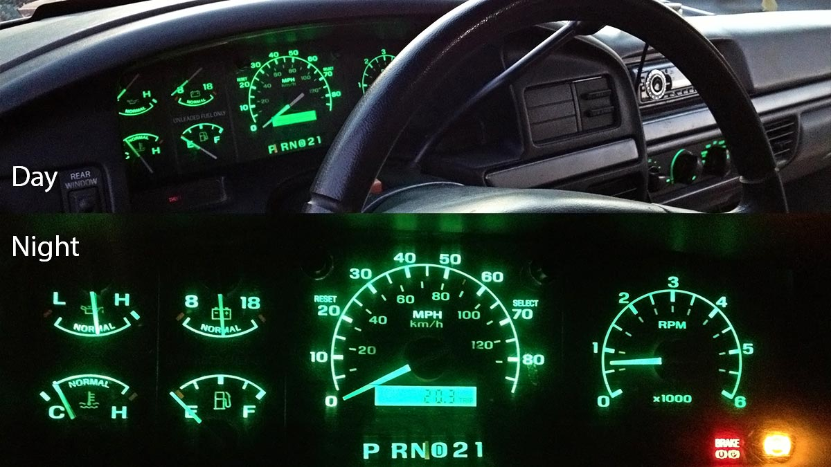 2002 ford ranger instrument cluster bulb replacement