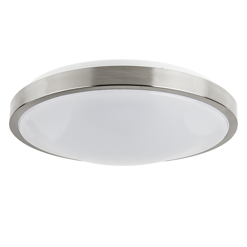 14 flush mount led ceiling light w brushed nickel housing 160 watt equivalent dimmable. Black Bedroom Furniture Sets. Home Design Ideas