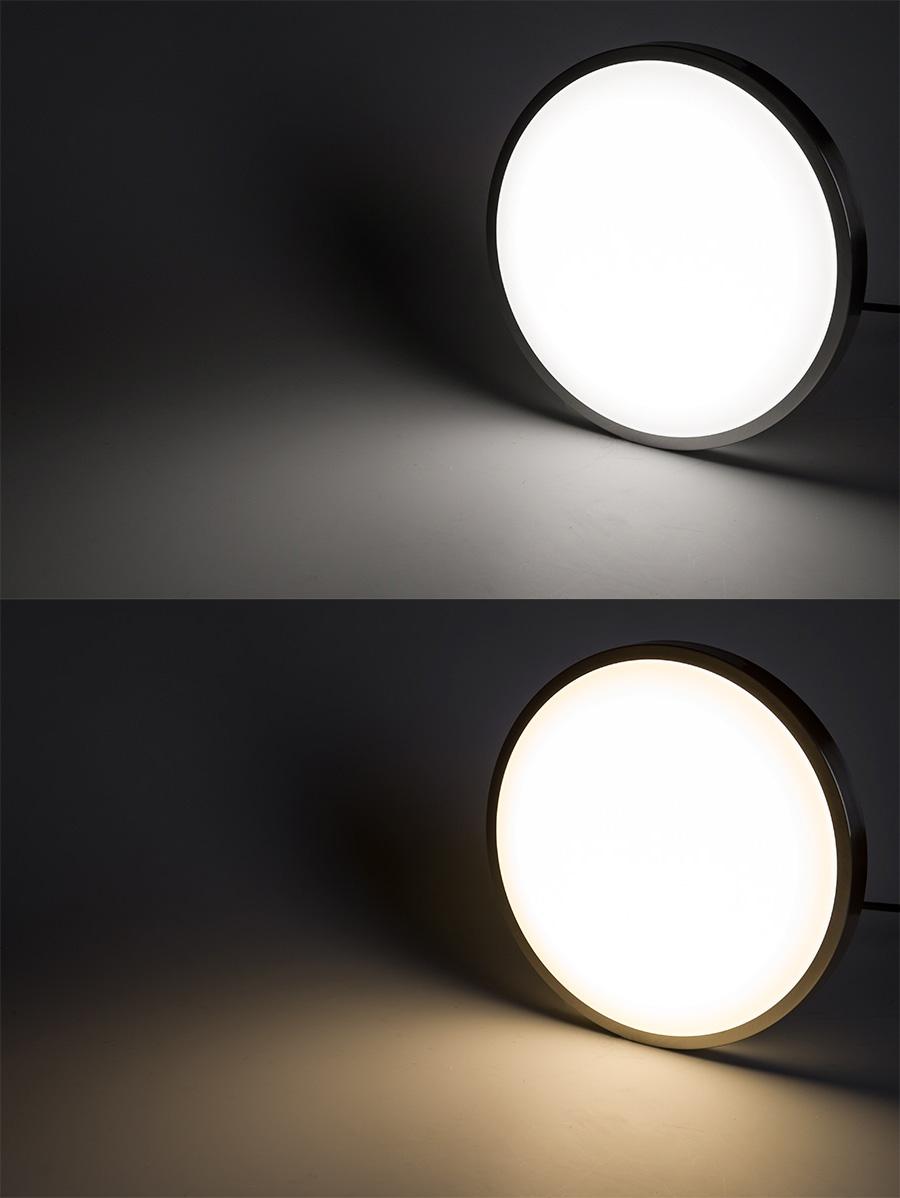 "14"" flush mount led ceiling light w/ brushed nickel housing - 100"