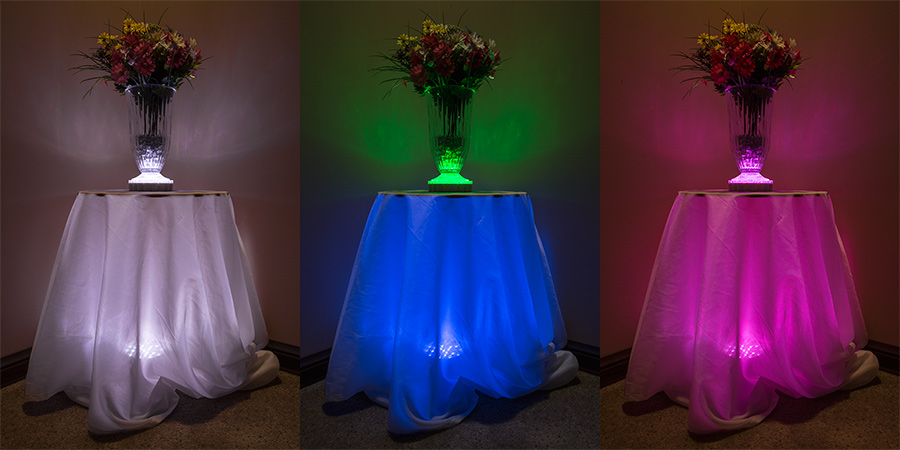 Led centerpiece light quot rechargeable battery powered