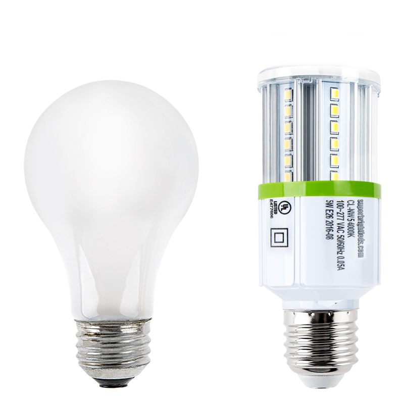 Led Corn Light 40w Equivalent Incandescent Conversion E26 E27 Base 500 Lumens 3000k