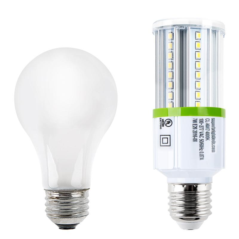 led corn light 70w equivalent incandescent conversion e26 e27 base 700 lumens led shop. Black Bedroom Furniture Sets. Home Design Ideas