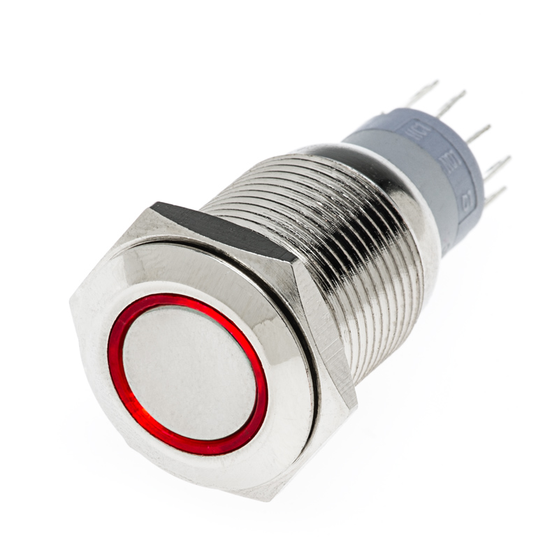 LED Indicator Push Button Switch | Super Bright LEDs