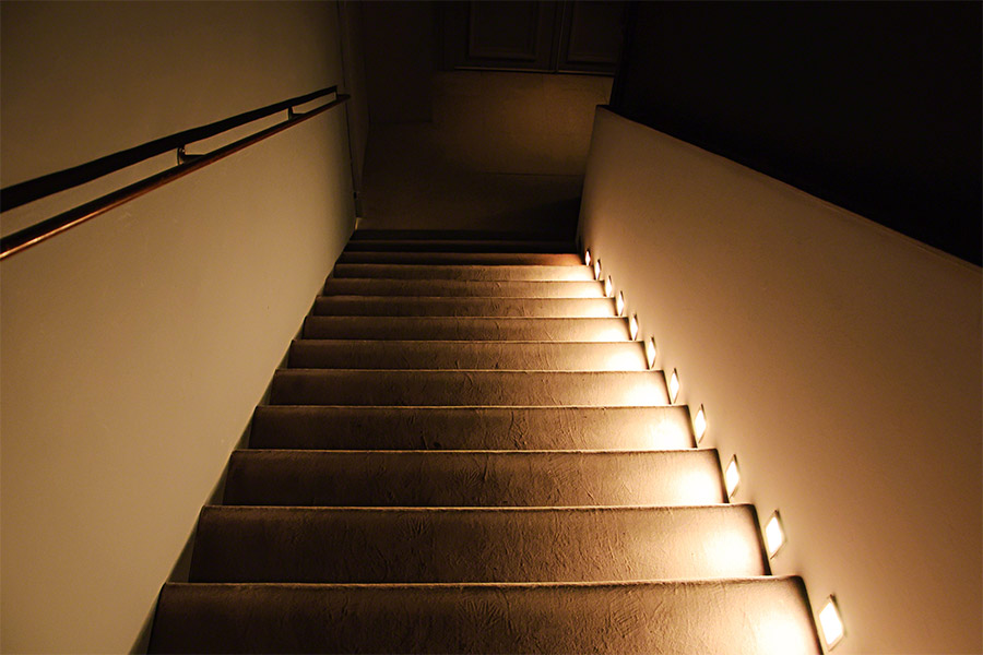 steps lighting. simple lighting led step lights  high output rectangular deck  accent light 12v or  120v installed in outdoor stairwell and steps lighting r