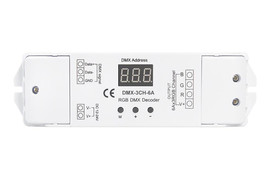 6 amp 3 channel dmx 512 decoder for led dmx controllers