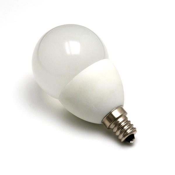 Candle Base Light Bulbs: Candelabra LED Bulb - Mini Globe Shape,Lighting