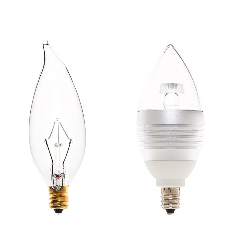 B10 Led Decorative Light Bulb 15 Watt Equivalent Candelabra Led Bulb W Blunt Tip 90 Lumens