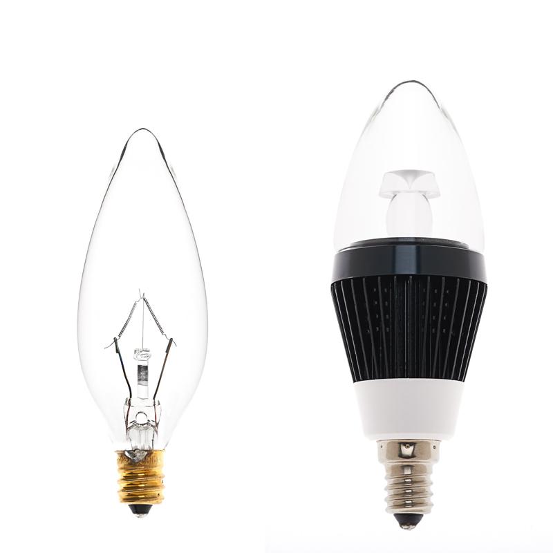 B10 Led Decorative Light Bulb 10 Watt Equivalent Candelabra Led Bulb W Blunt Tip 75 Lumens