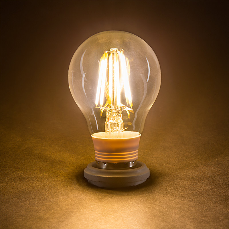 a19 led bulb 75 watt equivalent led filament bulb super bright leds. Black Bedroom Furniture Sets. Home Design Ideas