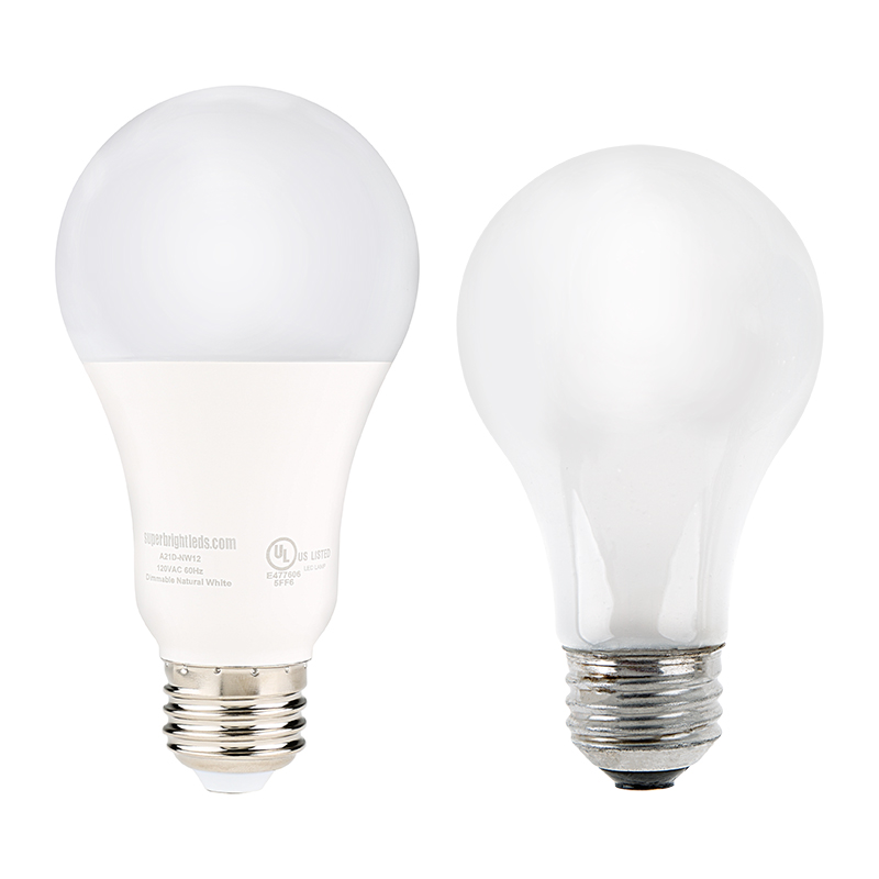 A21 Led Bulb 120 Watt Equivalent Globe Bulb Dimmable 1 200 Lumens Fits Most A19