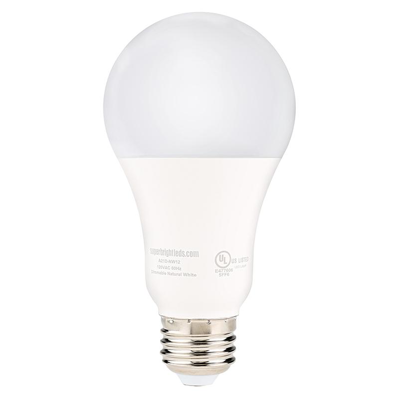 a21 led bulb 120 watt equivalent globe bulb dimmable 1 200 lumens fits most a19. Black Bedroom Furniture Sets. Home Design Ideas