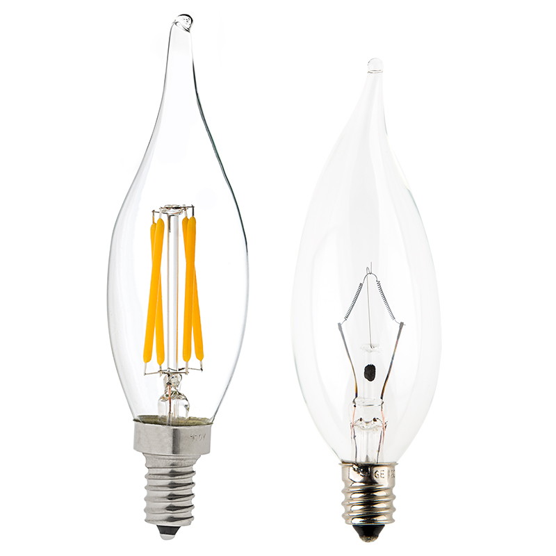 ca10 led filament bulb 40 watt equivalent candelabra led. Black Bedroom Furniture Sets. Home Design Ideas