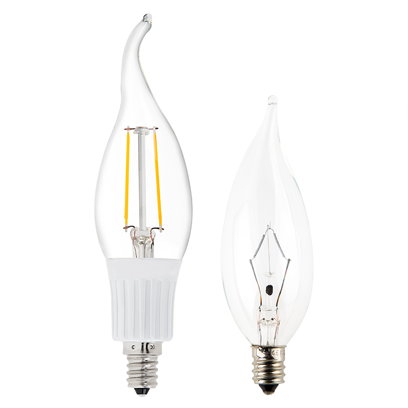 Ca10 Led Filament Bulb 35 Watt Equivalent Candelabra Led Bulb W Bent Tip Decorative Led