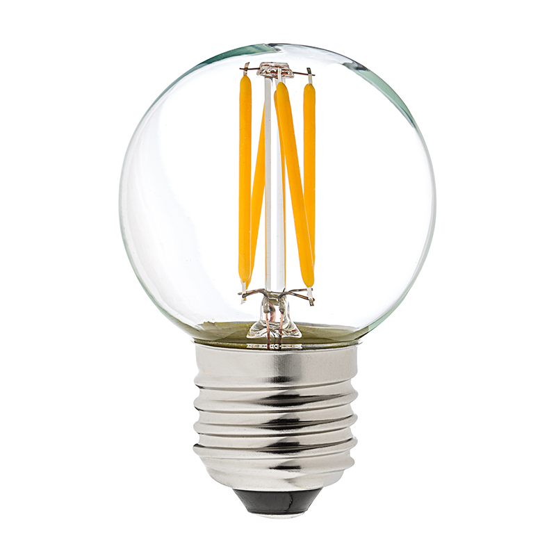 g16 5 led filament bulb 40 watt equivalent globe bulb dimmable 285 lumens super bright leds. Black Bedroom Furniture Sets. Home Design Ideas