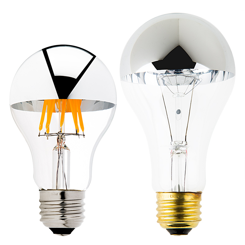 A19 Led Bulb Silver Tipped Led Filament Bulb 40 Watt