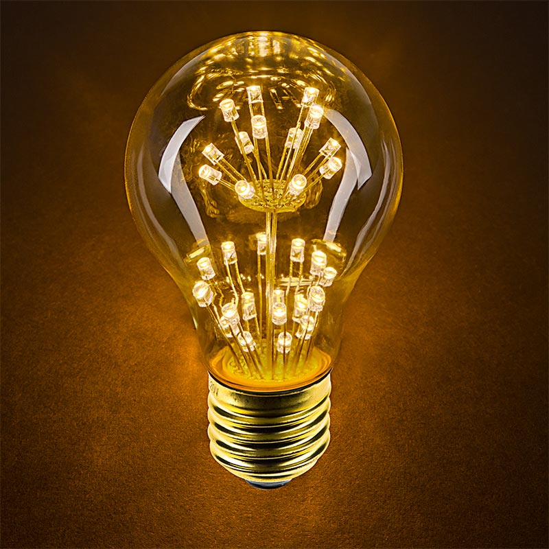 LED Fireworks Bulb - A19 Decorative Fireworks LED Bulb - Dimmable LED Fireworks Bulb - A19 Decorative Fireworks LED Bulb - Dimmable & LED Fireworks Bulb - A19 Decorative Fireworks LED Bulb - 10 Watt ...