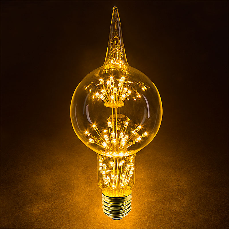 Led Fireworks Bulb G80 Decorative Alien Light Bulb 10 Watt Equivalent Dimmable 101