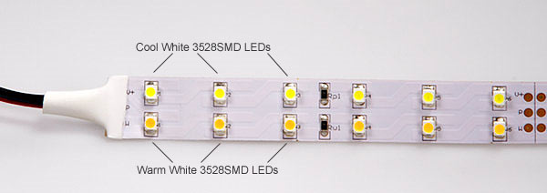 Variable Color Temperature Flexible Light Strip Kit With