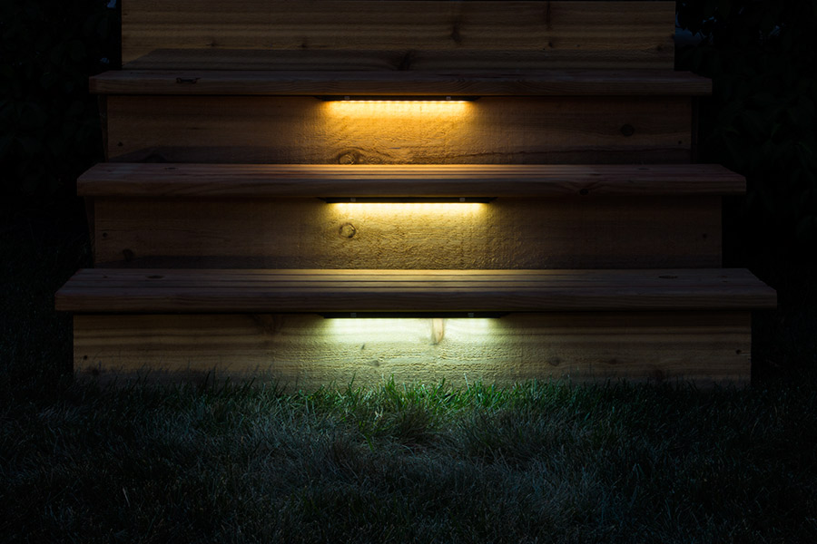 Led Landscape Wall Lights : LED Hardscape Lighting - Deck/Step and Retaining Wall Lights w/ Mounting Plates - 93 Lumens ...