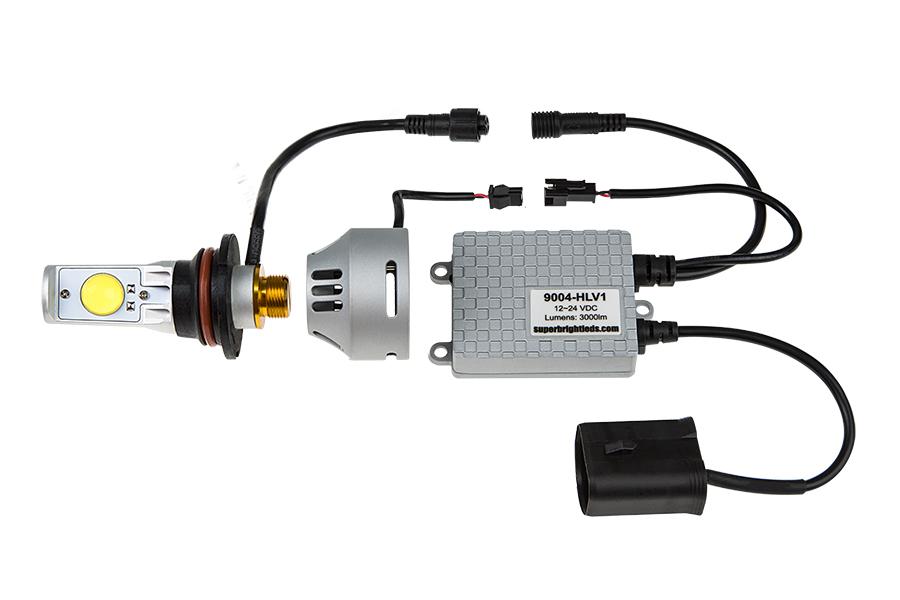 9004 Headlight Wiring : Led headlight kit bulbs conversion