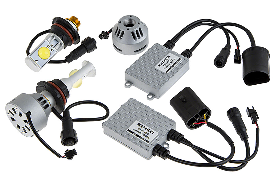 led headlight conversion kit 9007 all components open box led headlight kit 9007 led headlight bulbs conversion 9007 headlight wiring diagram at bayanpartner.co