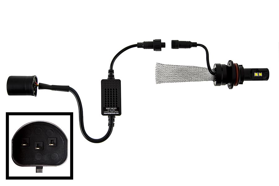 similiar 9007 bulb connection keywords 9007 hlv3 led headlight kit 9007 led headlight bulbs conversion