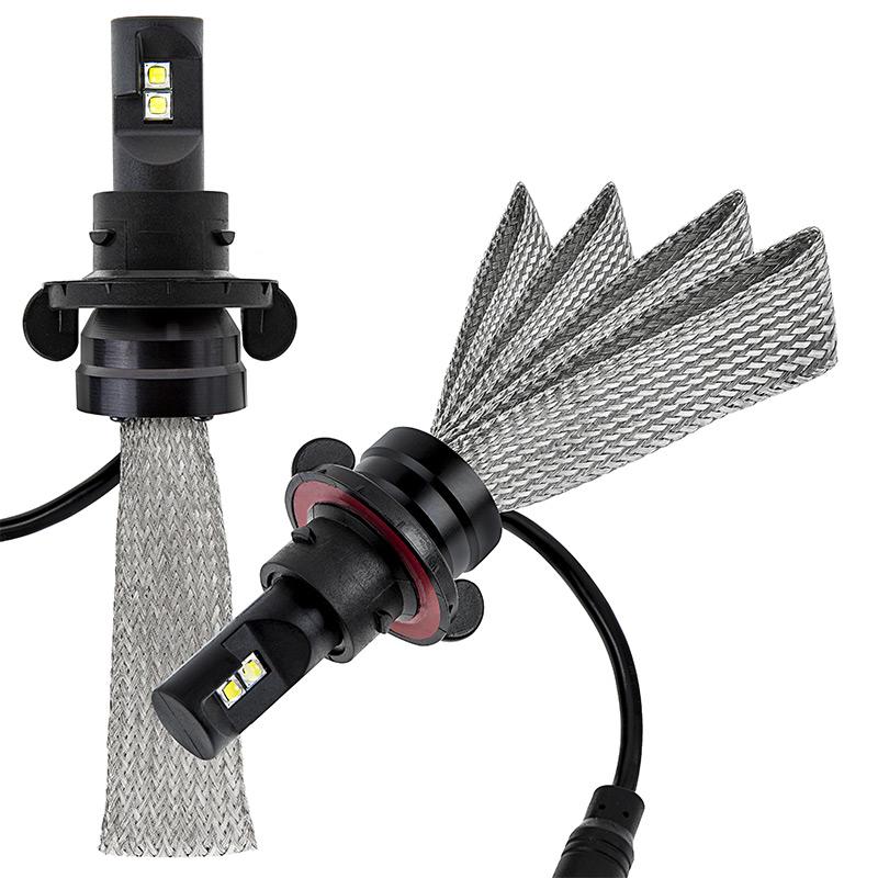 led headlight kit h13 led headlight bulbs conversion kit with flexible tinned copper braid. Black Bedroom Furniture Sets. Home Design Ideas