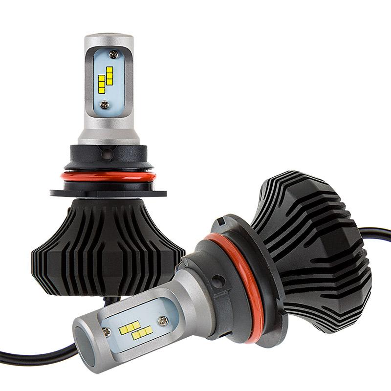 led headlight kit 9007 led fanless headlight conversion kit with compact heat sink led. Black Bedroom Furniture Sets. Home Design Ideas