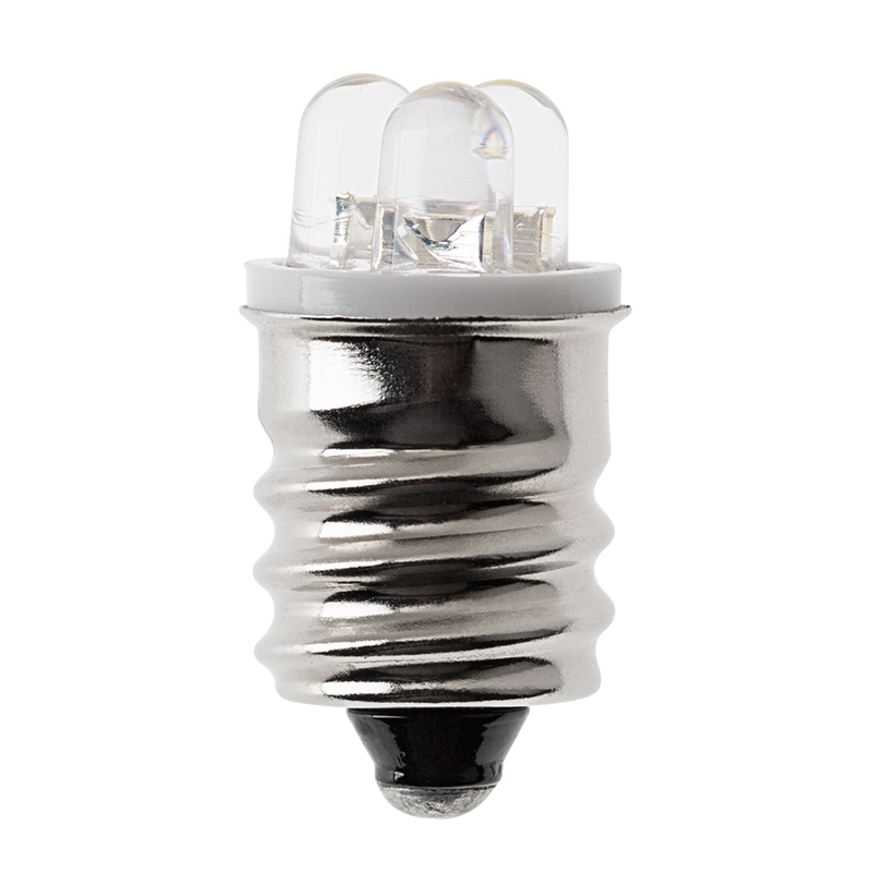 e12 led bulb 3 led cool white profile view
