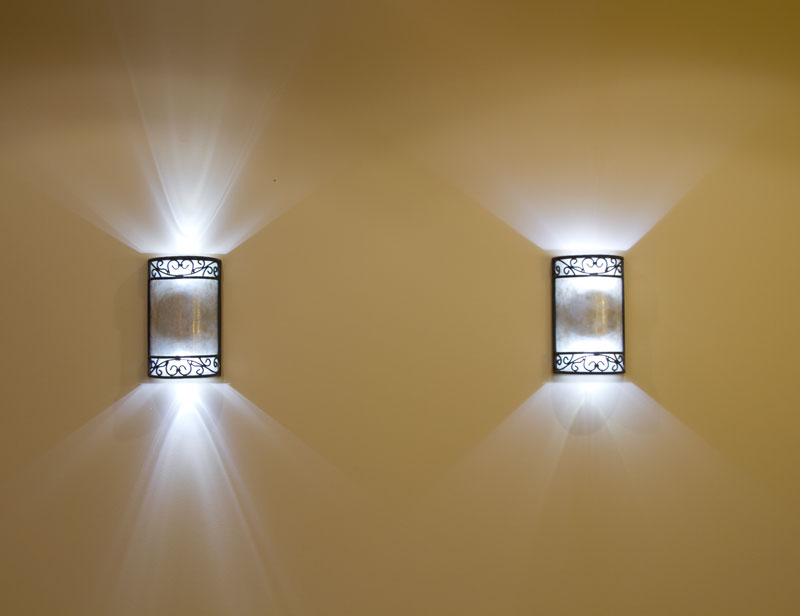 B10 led decorative light bulb 10 watt equivalent candelabra led left e12 x3w c37 right e12 x3w c360 warm white 2 bulbs per sconce aloadofball Images