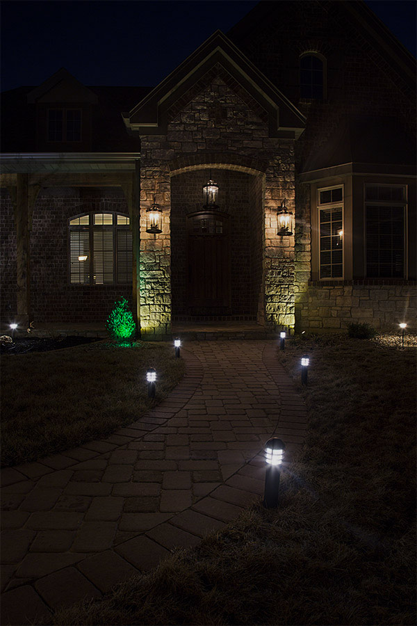 LED Landscape Path Lights Mini Bollard 2 Watt Aluminum Housing LED Pa