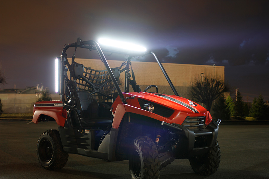 24 compact off road led light bar 47w 3528 lumens super 24 compact off road led light bar 63w installed on utv aloadofball Image collections