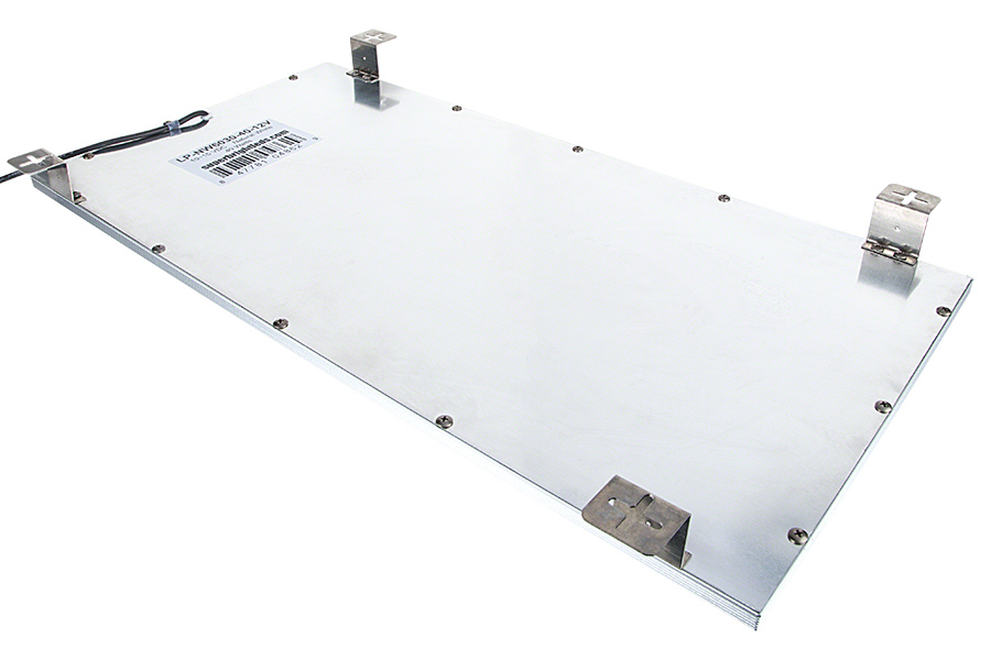 24 X 12 Led Panel Light 12v Task Shown With Included Mounting Kit Installed